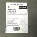 STOPM_2020_371_2b: Test receipt card with the barcode sticker on. Thumbnail