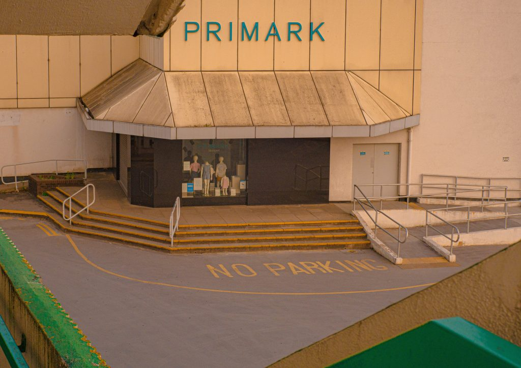 STOPM_2020_418f: Photograph taken of the top entrance of Primark, by Jake Bowden.