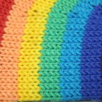 STOPM_2020_454b: close-up of the knitted rainbow.  Thumbnail
